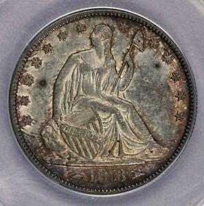 1873-P 1873 Seated Liberty Half Dollar ANACS AU58 Details Beautiful and original