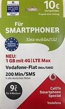 Vodafone D2 Callya Karte Prepaid Karte Smartphone Special mit 10€ Guthaben + LTE