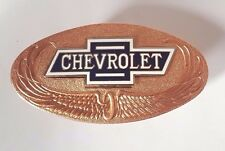Chevrolet Chevy Radiator Emblem Bowtie Bow Tie w/ Bronze Back Plate 1928