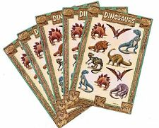 5 Sheets Dinosaurs Scrapbook Stickers! T-Rex Triceratops Stegasauraus