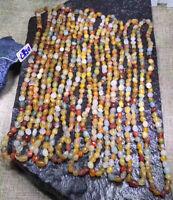 Natural Gobi Multi-Color Alashan Agate/stone Bracelet Necklace,Suiseki-viewing