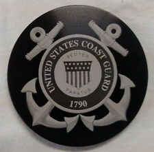 "United States Coast Guard, Billet Aluminum Hitch Cover Plug,4"" Black Anodized"