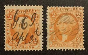 TDStamps: US Revenue Stamps Scott#R10c R12c Used