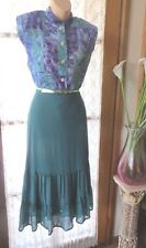 VINTAGE Style 50'S ~ Multi TOP ~ Sequinns SKIRT/BELT COMBO * Size 12 *