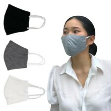 3 Reusable Face Masks (Black, White, Grey) Machine Washable, 100% Cotton