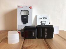 Soporte De Zapata Flash Canon Speedlite 580EX II Caja Plus Difusor