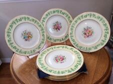 "Wedgwood bone china hand painted EIGHT 11"" service plates grapes and flowers"
