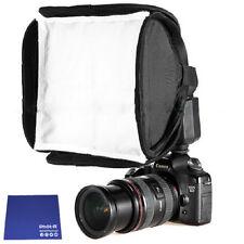 "Phot-R 23cm 9"" Mini Portable Folding Softbox Diffuser Flashguns Chamois Cloth"