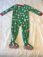Toddler Baby Boy Christmas Pajamas Pj Outfit, Zip Up, Zipper, Size 3T 3