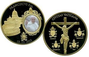 POPE FRANCIS COMMEMORATIVE COIN PROOF LUCKY MONEY VALUE $139.95