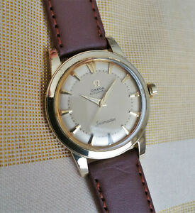 Vintage Omega Seamaster automatic watch, gold filled, great dial, cal. 500, runs