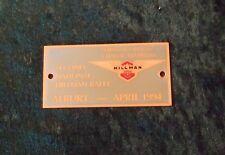 GRILLE / CAR BADGE - HILLMAN OWNERS CLUB OF AUSTRALIA - ALBURY - APRIL 1994