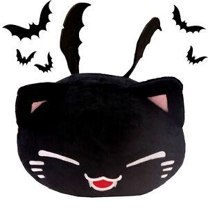 Plüschtier Katze Nemu Neko -  Halloween Vampir Schwarz Kuscheltier