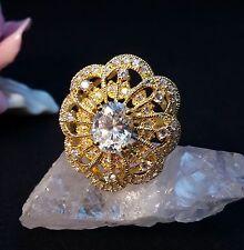Ring  Silber 925 vergoldet mit Zirkonia Größe 60 bis 19,1 mm