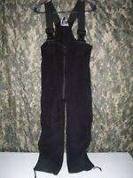 USGI Polartec 100 Cold Weather Fleece Overalls Black MULTIPLE SIZES AVAILABLE