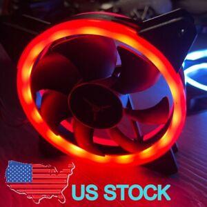 SKYTECH OEM 120mm Red LED Hydraulic Bearing PC Case Fan RGB 4-pin 12V 0.45A 4W