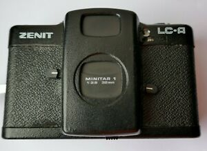 VINTAGE RARE ZENIT LC-A  Minitar A1 32mm F2.8 Lens , Faulty NOT Working .