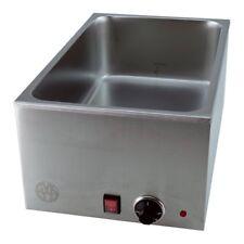 Bain Marie Wasserbad Speisenwärmer ohne Behälter mit 150mm Tiefe aus Edelstahl f