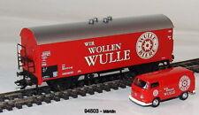 """MÄRKLIN 94503 Kühlwagen + VW Transporter T2 """"Wir wollen Wulle"""" #NEU in OVP#"""