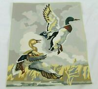 Vtg Paint by Number Wall Art PBN Ducks Painting 1950s Lodge 16x12 Unframed