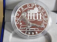 WORLD CUP FRANCE 98 Monnaie De Paris Silver 10F Coin In Box & C.O.A. 4606/40,000