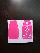 Carbon Pink Folie Dekor Schlüssel Mercedes C E AMG Brabus W204 CLK W209  W
