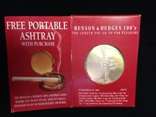 Vintage Benson & Hedges 100's Portable Ashtray New Old Stock