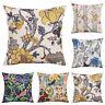 18inch Plants Cotton Linen Pillow Case Waist Sofa Cushion Cover Home Decor