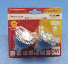MR16 LED Energiespar Leuchtmittel Reflektor Alu-Spot 3 Watt 210 Lm Doppelpack