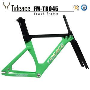 Fixed Gear 700C Carbon Tracking Bike Frameset with Frame Fork OEM Bicycle Frame