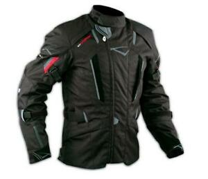 Motorbike Motorcycle Waterproof CE Armours Textile Touring Tex Jacket  Black L