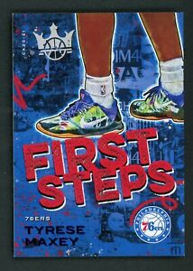 2020-21 Panini Court Kings #9 Tyrese Maxey First Steps Blue Foil 22/25