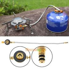 Stove Burner Furnace Connector Head Gas Tank Adapter Valve for Outdoor Camping