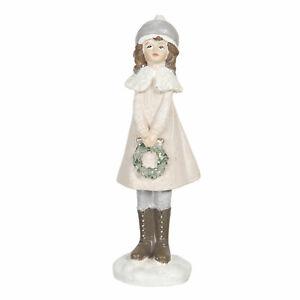 Clayre Eef Weihnachten Deko Weihnachtsschmuck Winterkind Mädchen 16x4x4 cm