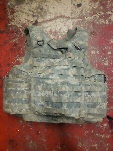 ARMY ACU DIGITAL BODY ARMOR PLATE CARRIER MADE W/KEVLAR INSERTS Medium Regular