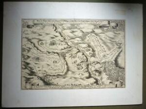 Schlachtenplan, Kupferstich Feldzug-Karte von 1647 (Art.4097)