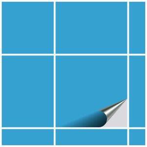 FoLIESEN Fliesenaufkleber für Küche und Bad - Fliesenfolie Lichtblau