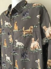 Outdoor Life Shirt Hunting Retriever Dogs Setters Labradors Brown XXL