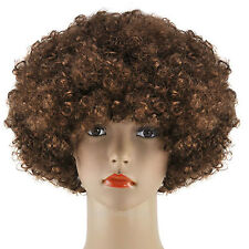 CURLY AFRO FANCY DRESS WIGS FUNKY DISCO CLOWN STYLE MENS/LADIES COSTUME 70S HAIR