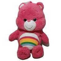 """Care Bears Cheer Bear Rainbow 15"""" Plush Stuffed AnimalClean Super Soft Huggable"""