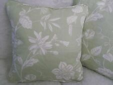 "SILVERLEY BY JANE CHURCHILL 1 PAIR OF 18"" CUSHION COVERS - DOUBLE SIDED & PIPED!"