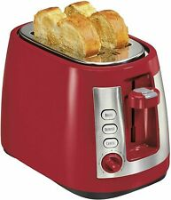 RED Hamilton Beach Ensemble Extra-Wide Slot 2-Slice Electric Toaster, (22812)