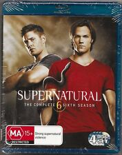 Supernatural : Season 6 (Blu-ray, 2011, 4-Disc Set)New Region B Free Post