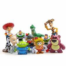 10pcs Toy Story 3 Woody Jessie Buzz Lightyear Alien Figures Cake Topper Toy Gift