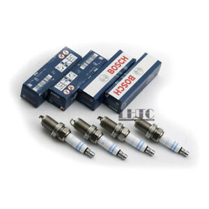 4pcs Spark Plug Double Platinum Ignition Bosch Genuine For VW Audi 1.8 2.0 TFSI