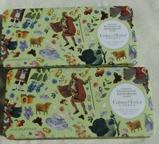 CRABTREE & EVELYN TWO BISCUIT TINS. PICTURESQUE SCOTTISH SCENES. KILTS. BAGPIPES