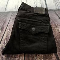 Men's True Religion Jeans 30 x 34 Geno Relaxed Slim Leg in Black RRP £200