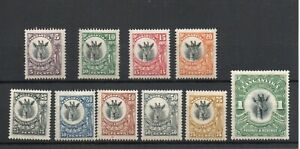 TANGANYIKA SG 74-83a 1922 GIRAFFE SET MNH