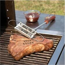 DIY BBQ Barbeque Meat Steak Branding Iron Letters Name Portable Travel Tool - SS
