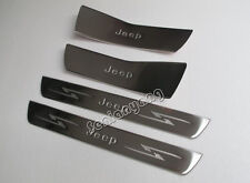 Door Sill Protector Scuff Trim for 2012-2015 JEEP Grand Cherokee Stainless Steel